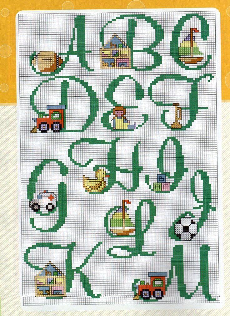 A me piacciono molto gli alfabeti e stravedo per quelli for Alfabeti a punto croce per bambini