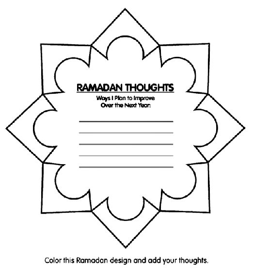 Ramadan Thoughts coloring page