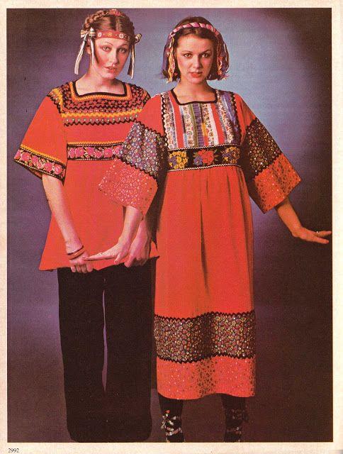 DIY vintage, couture, tricot, loisirs créatifs, années 70: Votre tunique Folk