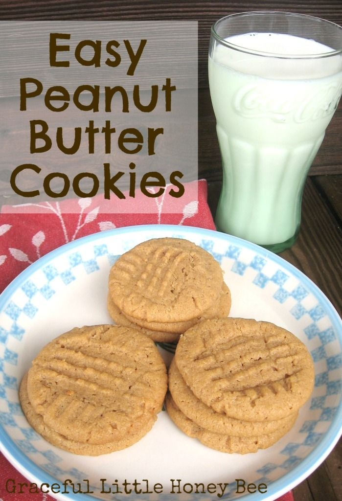 These easy peanut butter cookies come together fast with only 4 simple ingredients!