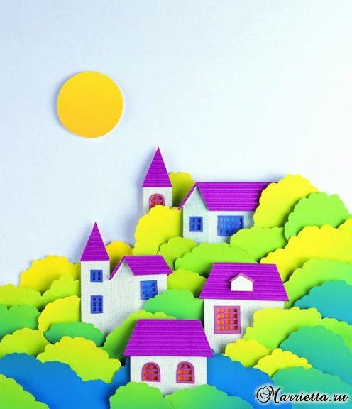 Объемная аппликация из бумаги. Идеи для детского творчества. Обсуждение на LiveInternet - Российский Сервис Онлайн-Дневников