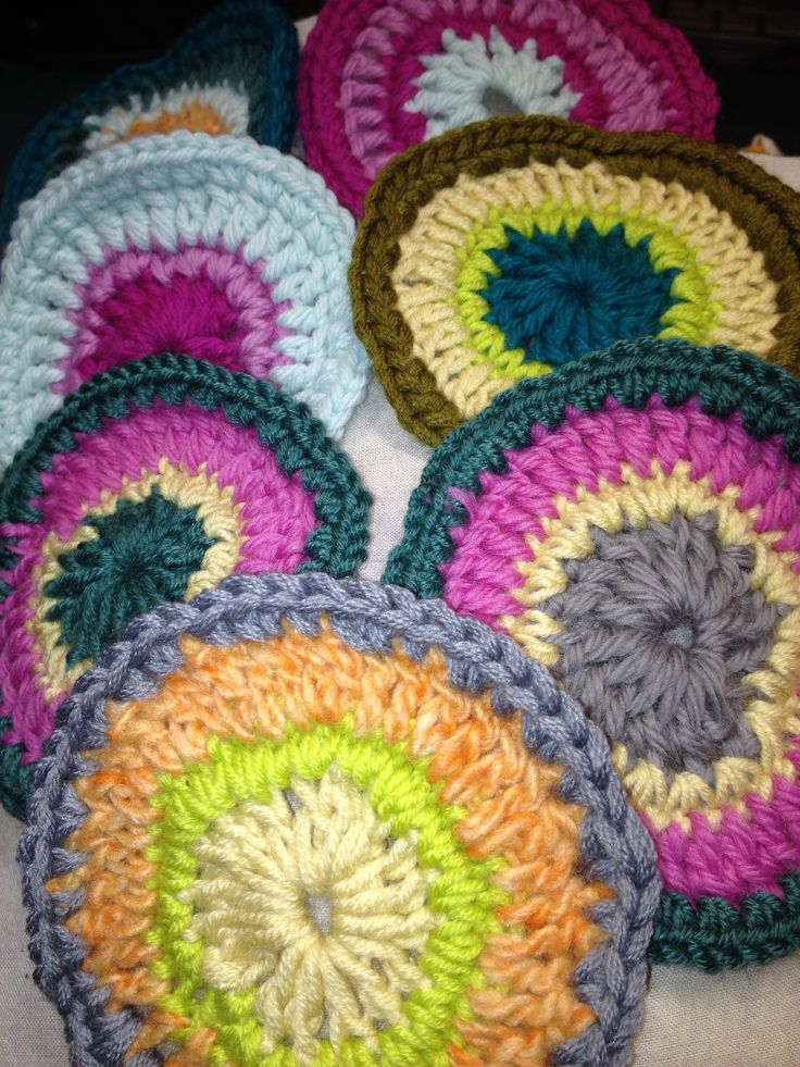 1000+ images about Hooked circles,coasters, dishcloths ...