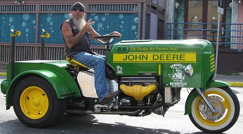 John Deere Tractor Motorcycle by HeadOvMetal