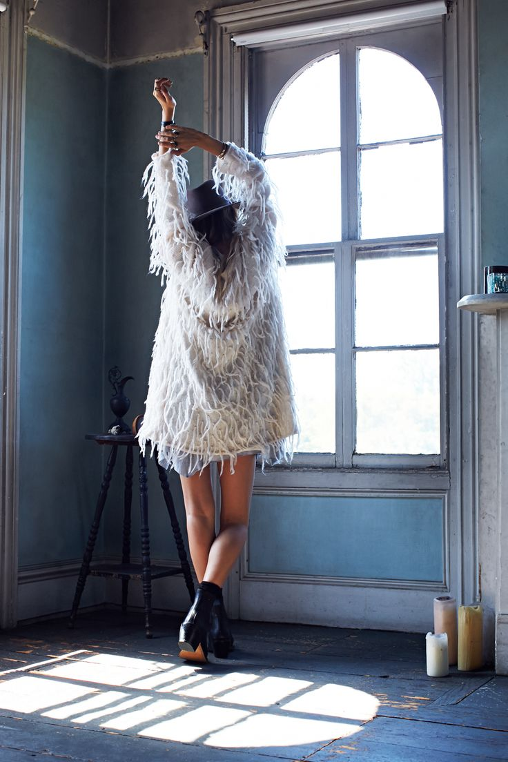 She found the coat by far the best way to clean spiderwebs from in corners and beside windows...