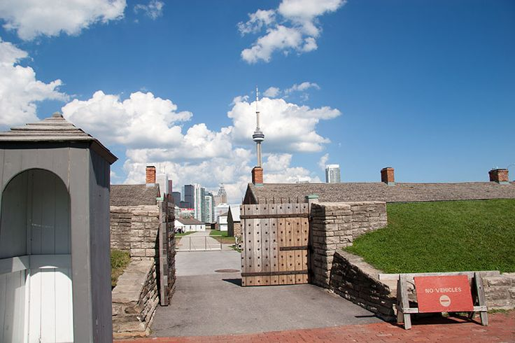 Entrance Historic Fort York Toronto. Today it is the garrison for the Queen's York Rangers, The Royal Regiment of Canada (Royals-Reservists)  Fort York Guard, & The Toronto Scottish Regiment (Queens Own) . It is also to the public for tours and historical reenactments  of the Battle of York'