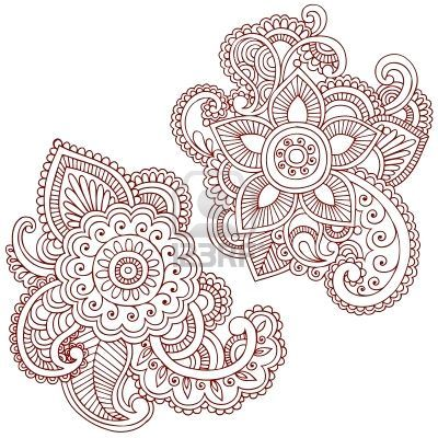 paisley henna doodle -- blue67 - could be a wonderful embroidery pattern also