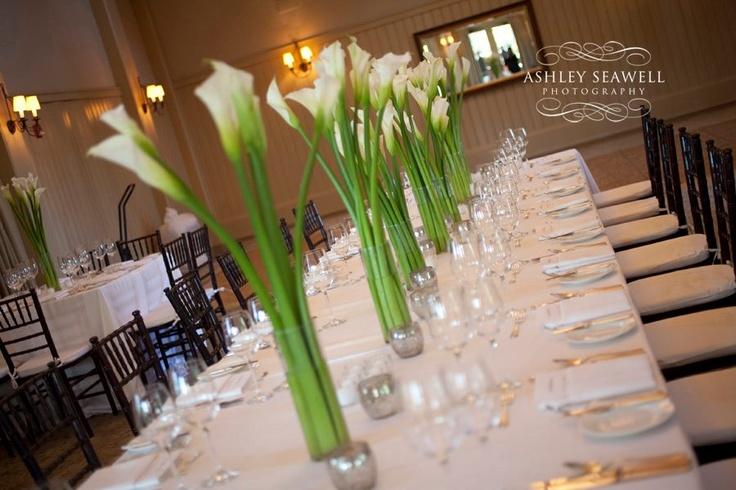 Palmetto Bluff Calla Lily Centerpieces Weddings