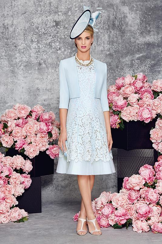 New into stock we have this Ronald Joyce 991117 from their new Spring Summer 2016 collection. This is a stylish Mother of the Bride and Special Occasion dress in Aqua complete with a matching jacket. This outfit retails at £495. To see more from Ronald Joyce take a look at our collection page.