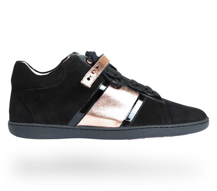 Sneaker Love Black Nappa calfskin , Patent leather and Suede goatskin by Repetto - Collection fall-winter 2014. #Repetto #RepettoSneakers #RepettoRunners