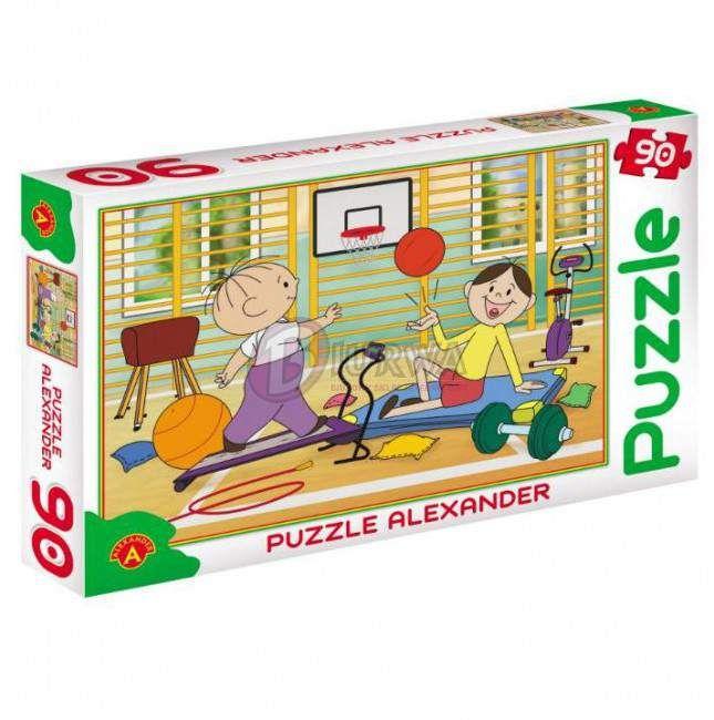 Puzzle 90 Bolek i Lolek sala gimnastyczna Alexande_1