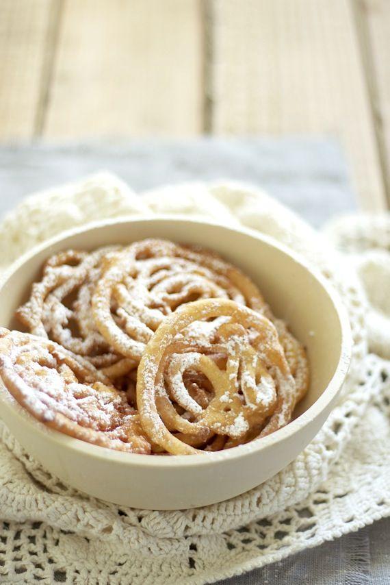 Strauben - Funnel Cake     Recipe on / Receta en Food and Cook