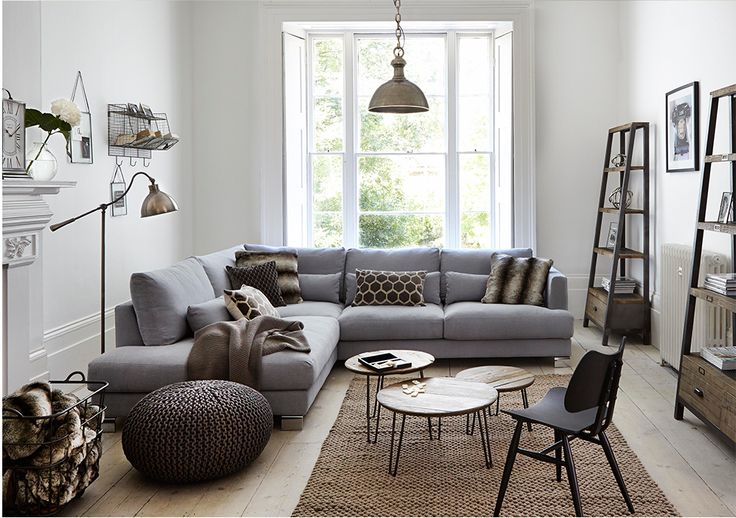 Snuggle up on a comfy corner sofa! Blog post from Your House at Barker and Stonehouse #barkerandstonehouse #livingroom