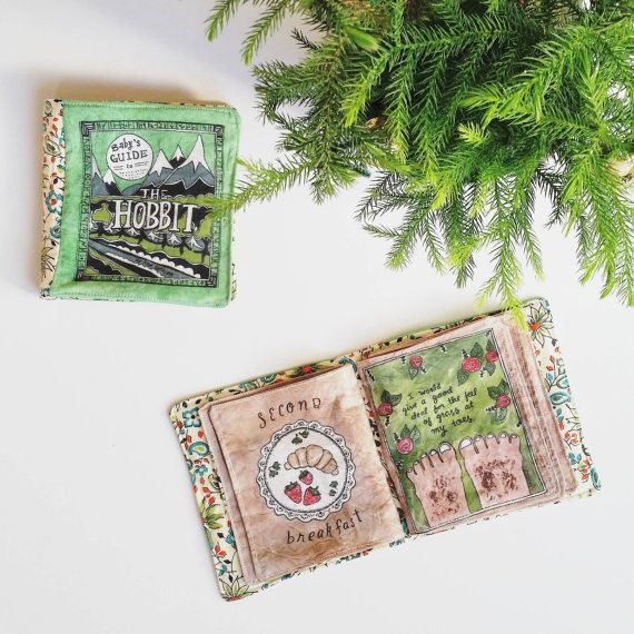 Baby's Guide to The Hobbit // Fabric Book // Literary Baby // Baby Toy // Quiet Book // Book Nursery