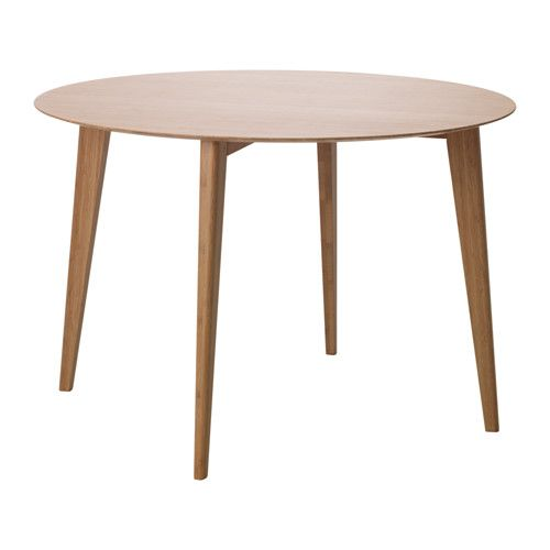 IKEA FINEDE Dining table Bamboo 110 cm Made of bamboo, which is an easy-care, hard-wearing natural material.