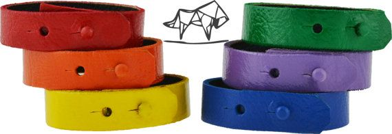 Bracciale Cuoio Braccialetto, Rainbow Pride Bracelet