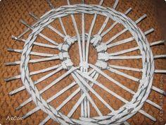Поделка изделие Плетение Авторские крышечки Бумага газетная фото 10