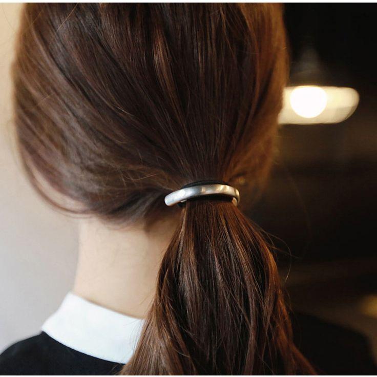 Mode Persoonlijkheid Legering Vergaderzaal Ring Haarband Manchet Wrap Paardenstaart Elastische Haar Metalen Ornamenten Touw Bijoux Cheveux