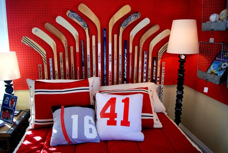 Bedroom : Exciting Unique Hockey Bedroom Design Ideas For Teenage Guys Room Decorating Bedrooms Sticks Bedstand Decor Canada Boys Baby Diy Team Field Locker Decorations Sale hockey room decor Hockey Locker Room Decorations Diy Hockey Room Decor Team Canada Hockey Room Decor also Bedrooms