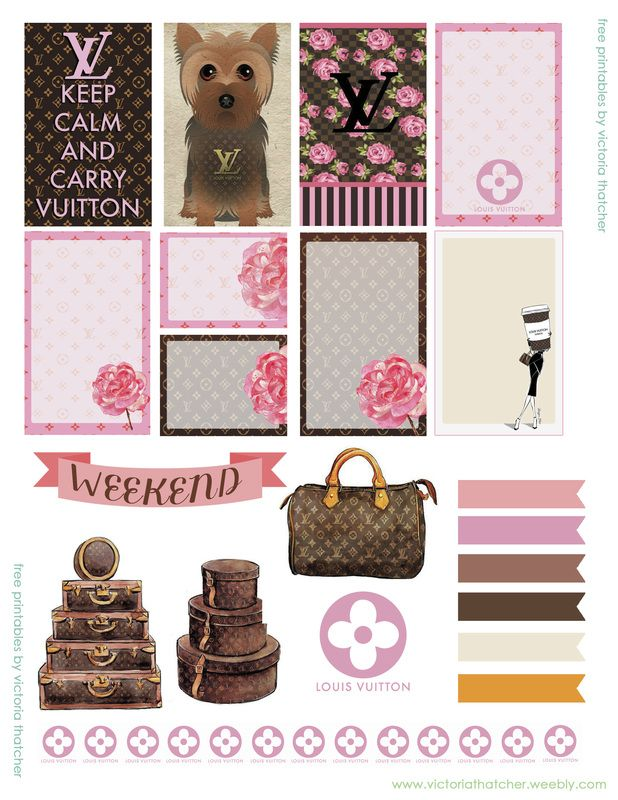 Planner & Journaling Printables ❤  louis vuitton planner stickers