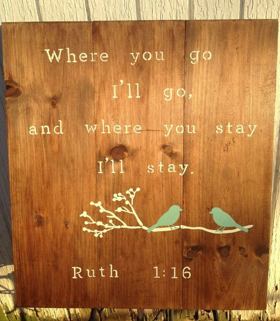 Ruth 116 pallet stained and custom painted by PearlyBirdDesigns, $35.00