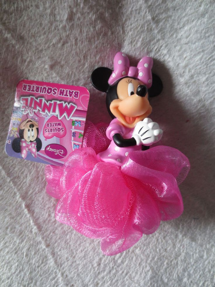 Girl Minnie Mouse Bath  Squirter With Sponge Pink Shaped Minni Mouse New  #MinnieMouse