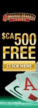 Music Hall Casino Free CA$ 500