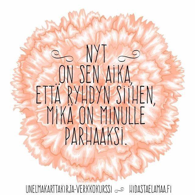 Itselle tärkeisiin asioihin ryhtymistä ei kannata siirtää! UNELMAKARTTAKIRJA-verkkokurssi starttaa ensi perjantaina. Siellä saat välineitä ja ryhmän tukea RYHTYMISEEN sekä teet oman voimakirjan, josta on iloa pitkälle eteenpäin! Lue lisää hidastaelamaa.fi ja hyppää mukaan!  Sanna #ryhdy #hyvääelämää #omatvalinnat #nyt #kaikkilähteeasenteesta #unelmat #unelmakarttakirja #voimakirja