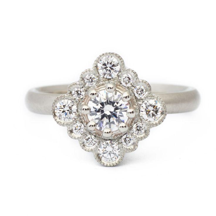 Grace Scalloped Engagement Ring   #engagementring #vintagering #alternativebridal #diamondring #annesportun #preciouseveryday #vintagebridal