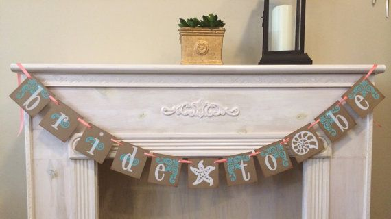Bride To Be Banner  Bridal Shower Beach Wedding  by ArmyMOMOfTwins