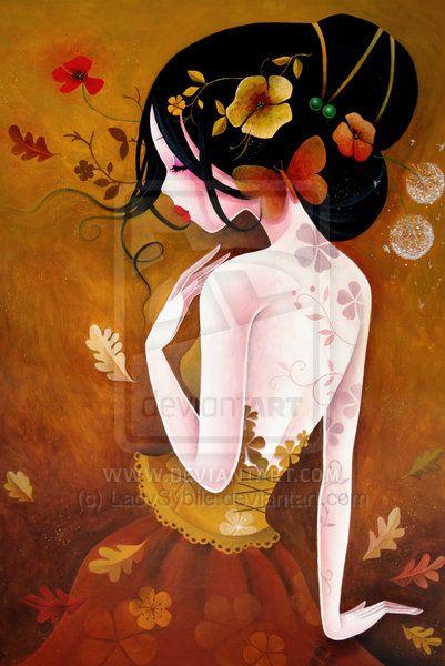 Le papillon de cuivre by LadySybile (print image)