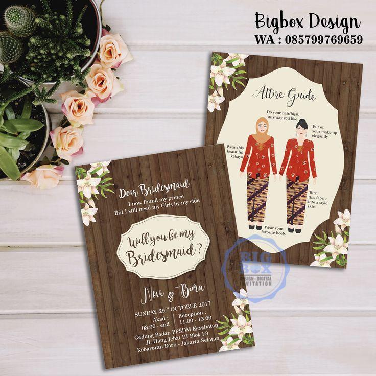 Bridesmaid card for Novi & Bima wedding. (bolak balik) Thank you. . . . Whatsapp/Line 085799769659 . . . #bridesmaid #groomsman #bridesmaidcard#bridesmaidcardsemarang #groomsmancard #kartubridesmaid #kebayajumputan #batikjumputan #kartugroomsman #attireguide #attireguidecard #undanganunik #undangan #undangansosmed #digitalinvitation #bigboxdesign #undanganelektronik