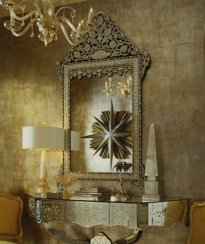 7 Miroirs Vénitiens Sensationnels pour le Salon Miroirs Vénitiens – une pièce somptueuse, majestueuse et éternelle, qui va se démarquer d'une manière grandiose dans votre salon et créer une atmosphère de luxe et raffinement.  www.magasinsdeco.fr #miroirvenitien #miroirdeluxe #salon #designexclusive #majesteux #somptueux #éternel #luxe #reflexion #miroir
