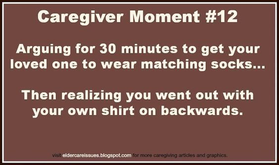 """Being a caregiver means putting yourself second. Say """"Aye"""" if this has happened to you! http://locatemotion.com/?utm_content=bufferd8b22&utm_medium=social&utm_source=pinterest.com&utm_campaign=buffer #meme #caregiver #elderly #elderlycare #alzheimers #dementia #autism"""