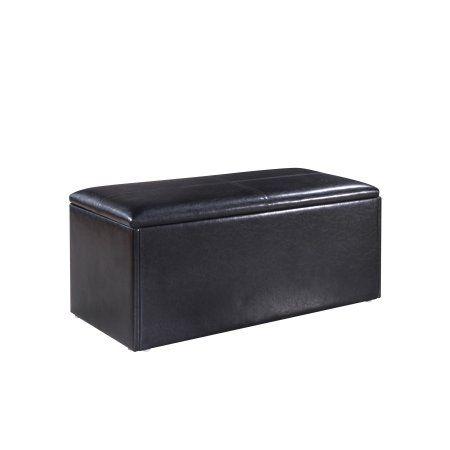 Kirby Black Storage Bench