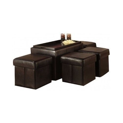 Collapsible-Storage-Bench-4-Ottomans-Faux-Leather-Manhattan-Stylish-Child-ToyBox