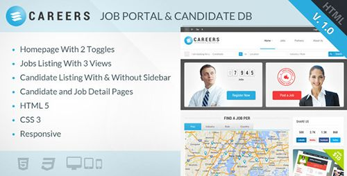 ThemeForest - CAREERS - Job Portal & Candidate Database (HTML) - RIP