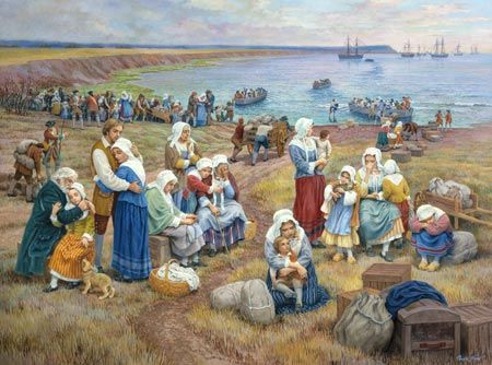 Acadian Nova Scotia Timeline | Ships Take Acadians Into Exile, by Claude T. Picard