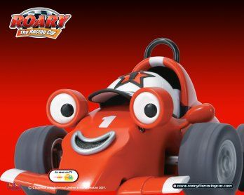 Joey's newest obsession!  Roary the  Racing Car!