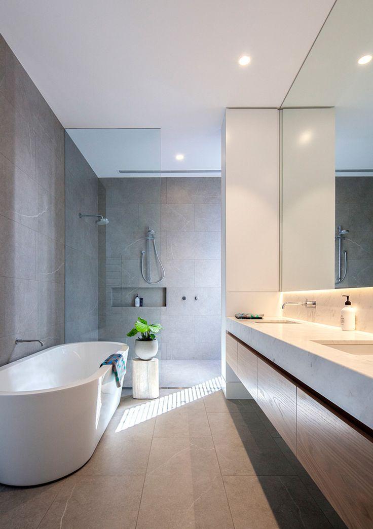 Nib Wall in Bathroom & Floating Vanity