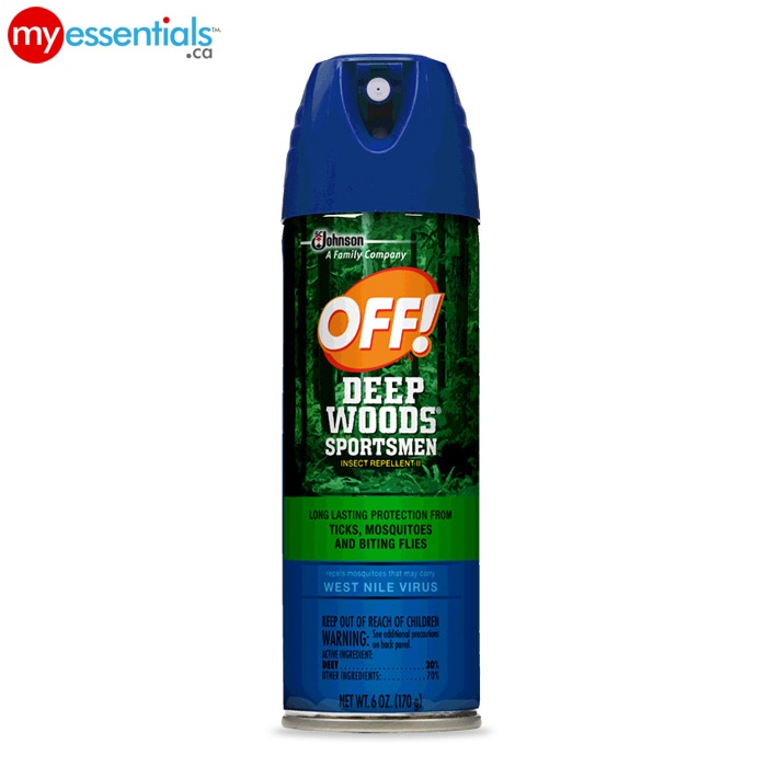 When enjoying the great outdoors, no one wants to wear a greasy mosquito spray.    Feel comfortable and stay protected with OFF! Deep Woods Sportsmen Dry Insect Repellent!     Get it from MyEssentials.ca!