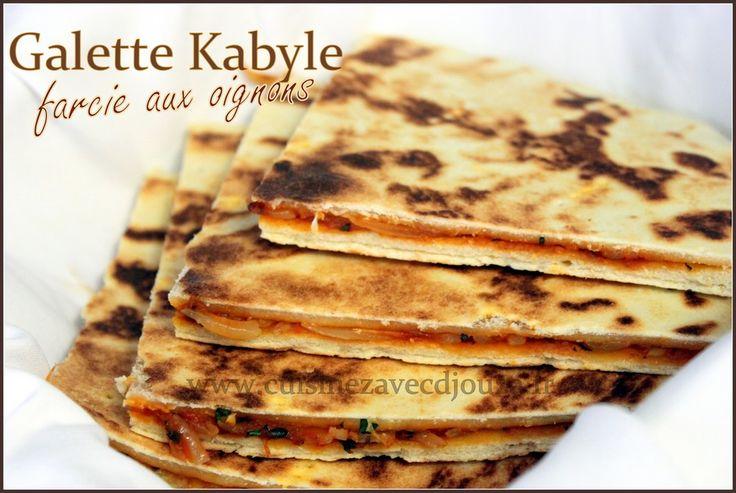 Galette kabyle farcie aux oignons