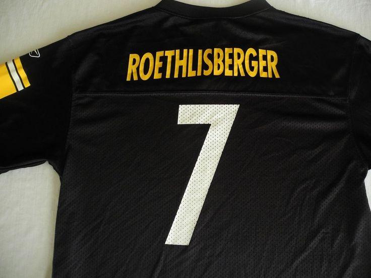 Ben Roethlisberger Reebok Jersey Youth XL Team Apparel NFL Steelers #Reebok #PittsburghSteelers