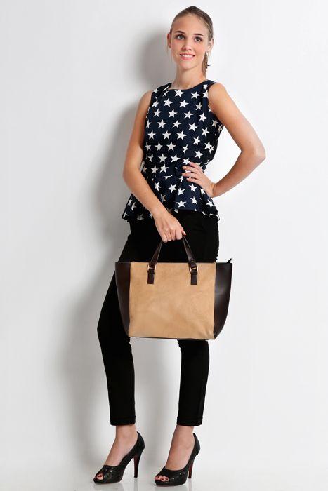 Sweet escape bag #taswanita #handbag #bags #suede #kombinasi #totebag #colors #cream #trendy #fashionable #stylish