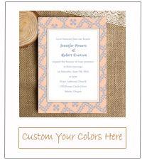 2015 trends peach and powder blue vintage wedding invitations ewi339