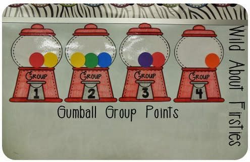 Gumball Group points - behavior management for small groups!