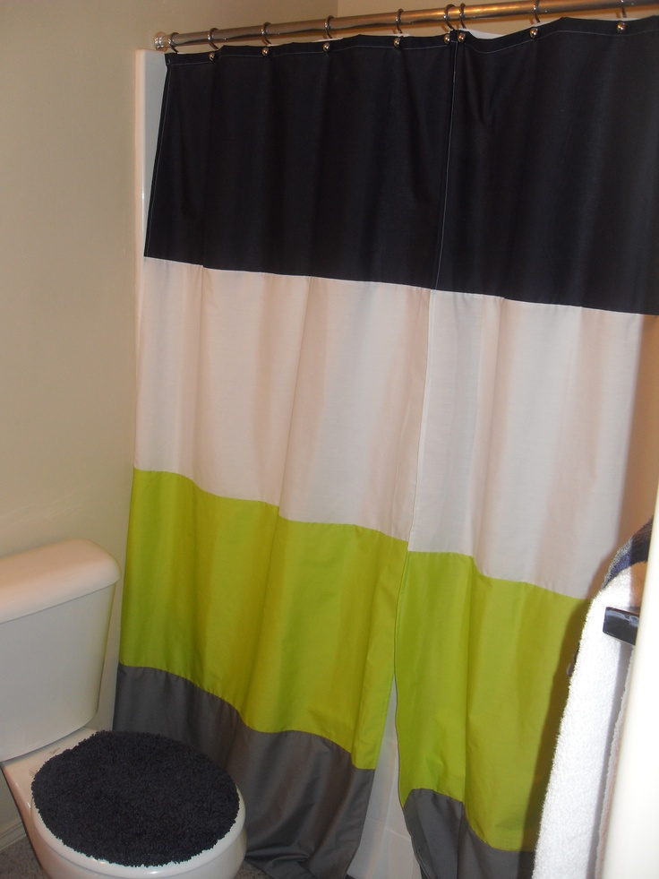 Sumo's Sweet Stuff: .:Tutorial Thursday - Color Blocked Shower Curtain:. #CGC #CleanHands