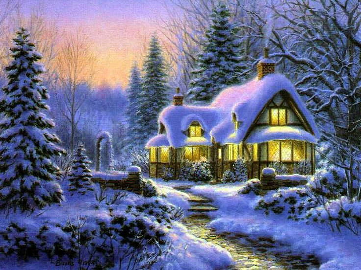 Картинки зима в анимации