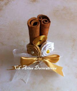 Lembrança Emilia ,pau de canela, bodas de Ouro