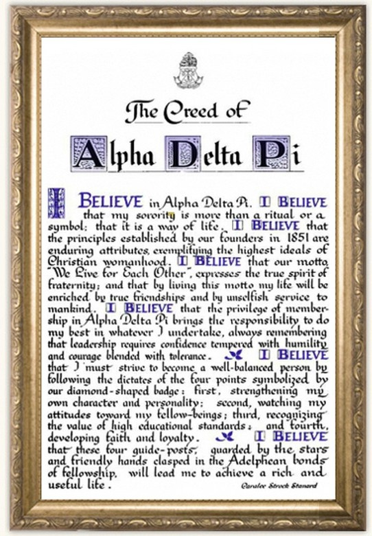 Our creed <>