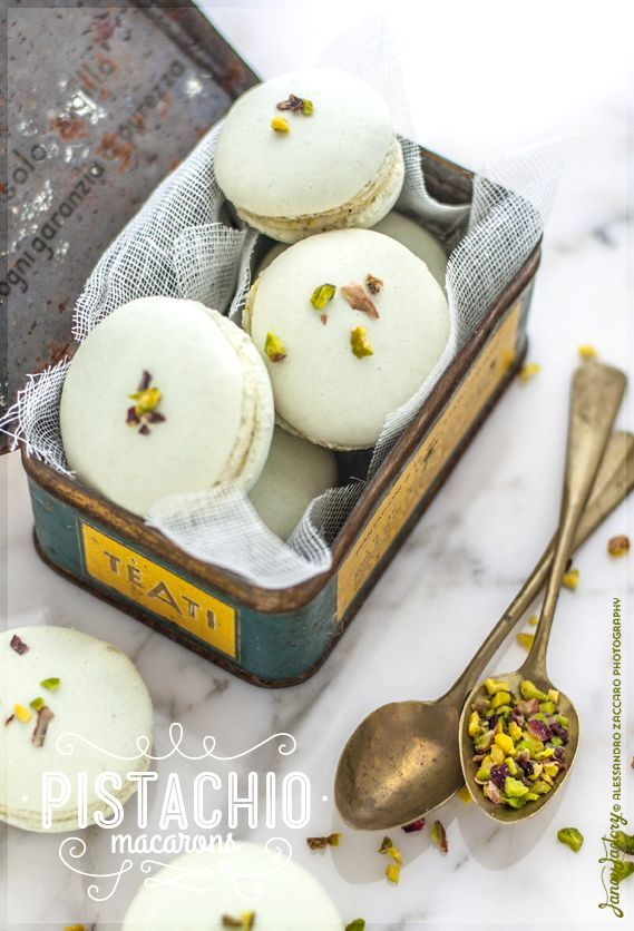 "Pistachio Macaroons in my latest ""Wanderlust Food Diaries"": ..  ""Innuendo"" (a Cyber Coffee Shop for ""Clever Conversation"")  ..  On the menu: Coffee, Tea, and ""Crumpets"""